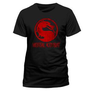 T-Shirt Unisex Mortal Kombat. Distressed Logo