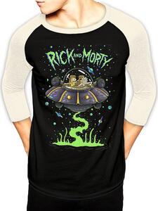 T-Shirt Unisex Tg. Xl Rick And Morty. Spaceship Baseball