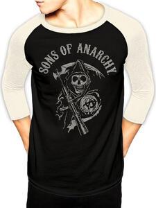 T-Shirt Unisex Tg. Xl Sons Of Anarchy. Logo Baseball