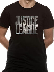 T-Shirt Unisex Tg. L Justice League Movie. Logo