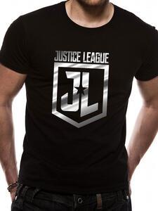 T-Shirt Unisex Tg. S Justice League Movie. Foil Logo