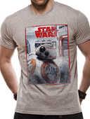 Idee regalo T-Shirt Unisex Tg. M Star Wars VIII The Last Jedi. Bb8 Reveal CID