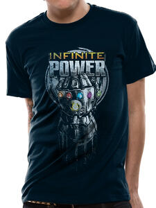 T-Shirt Unisex Tg. S. Avengers Infinity War Infinite Power Glove