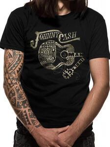 T-Shirt Unisex Tg. M Johnny Cash. Guitar Text