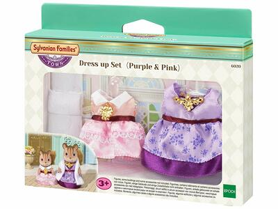 Purple & Pink Sylvanian Families. Dress Up Set