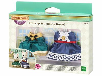 Blue & Green Sylvanian Families. Dress Up Set