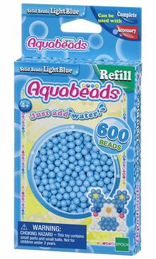 Aquabeads Solid Bead Refill Pack Light Blue