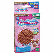 Aquabeads Solid Bead Pack. Light Brown