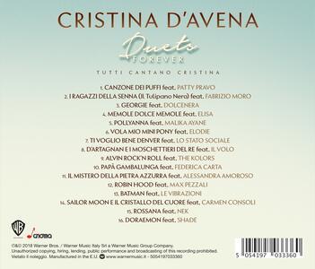 Duets Forever. Tutti cantano Cristina - CD Audio di Cristina D'Avena - 2