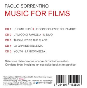 CD Paolo Sorrentino. Music for Films (Colonna Sonora)  1