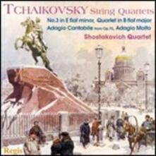 Quartetti per archi - CD Audio di Pyotr Ilyich Tchaikovsky,Shostakovich Quartet