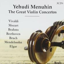 Great Violin Concertos - CD Audio di Yehudi Menuhin