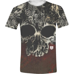 T-Shirt unisex The Walking Dead. Walker's Skull Full Printed