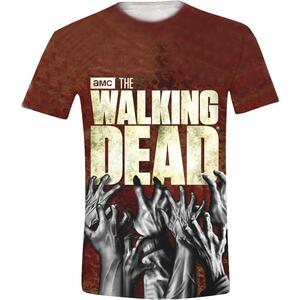 T-Shirt unisex The Walking Dead. Hands Logo Full Printed
