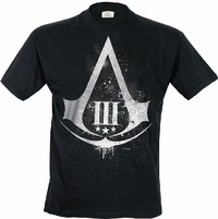 T-Shirt uomo Assassins Creed III. Distressed Shield