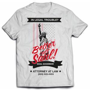 T-Shirt uomo Better Call Saul. Logo Flag