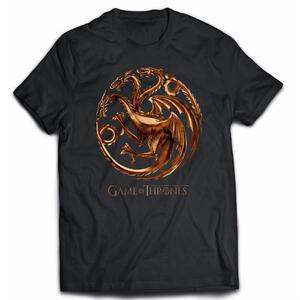 T-Shirt uomo Trono di Spade (Game of Thrones) Chrome Targaryen Sigil