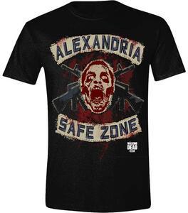 T-Shirt unisex Walking Dead. Safe Zone Faux Patches