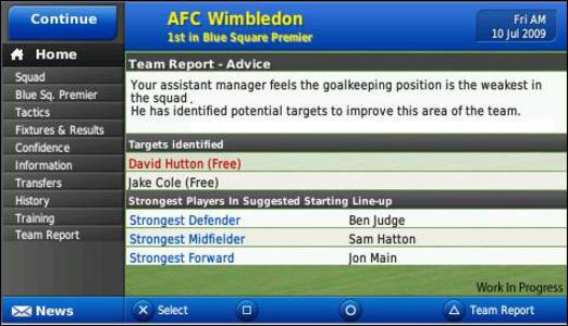 Videogioco Football Manager 2010 Sony PSP 6