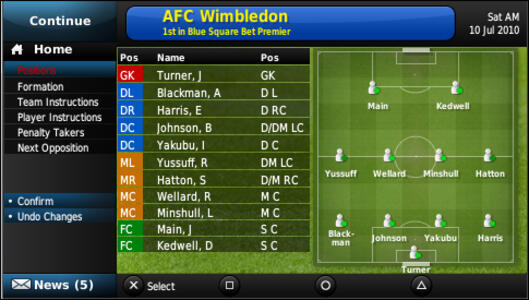 Football Manager 2011 - 5