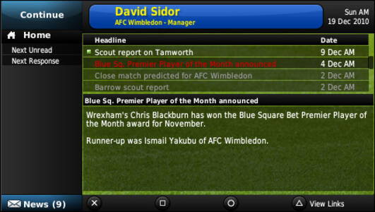 Football Manager 2011 - 6