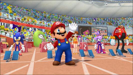 Videogioco Mario & Sonic Giochi Olimpici Londra 2012 Nintendo WII 2