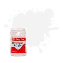 Humbrol No 22 White Gloss Plus 30% Extra Free 14Ml Acrylic Potlets
