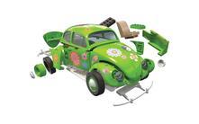 Set Costruzione Macchina Quickbuild. Volkswagen Beetle Flower-Power