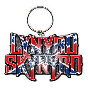 Portachiavi Lynyrd Skynyrd. Flag Logo in Metallo