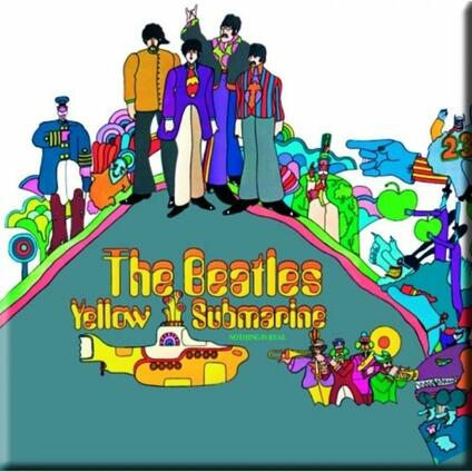 Magnete in metallo Beatles. Yellow Submarine Album Cover