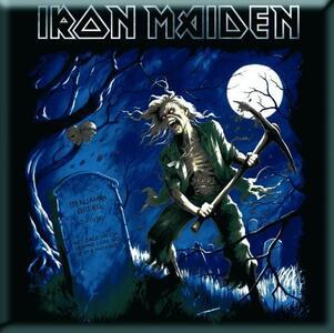 Magnete in metallo Iron Maiden. Benjamin Bregg