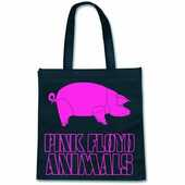 Idee regalo Eco Borsa Pink Floyd. Animal Logo On Black Rock Off
