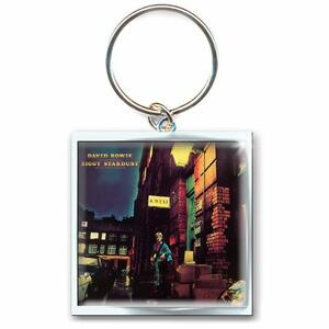 Portachiavi David Bowie. Ziggy Stardust in Metallo