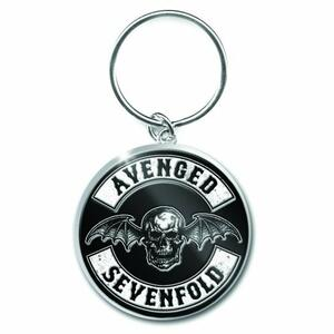 Portachiavi Avenged Sevenfold. Deathbat Crest in Metallo