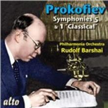 Sinfonia n.1 - CD Audio di Sergej Sergeevic Prokofiev,Rudolf Barshai,Philharmonia Orchestra