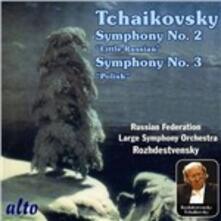 Sinfonie n.2, n.3 - CD Audio di Pyotr Ilyich Tchaikovsky,Gennadi Rozhdestvensky