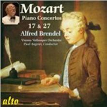 Concerti per pianoforte n.17, n.27 - CD Audio di Wolfgang Amadeus Mozart,Alfred Brendel,Paul Angerer