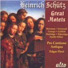 Grandi mottetti - CD Audio di Heinrich Schütz