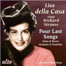Vier Letzte Lieder - CD Audio di Richard Strauss,Lisa Della Casa