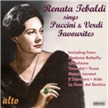 Renata Tebaldi Sings Puccini & Verdi Favourites - CD Audio di Giacomo Puccini,Giuseppe Verdi,Renata Tebaldi