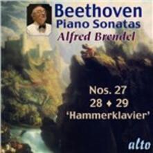 Sonate per pianoforte n.27, n.28, n.29 - CD Audio di Ludwig van Beethoven,Alfred Brendel