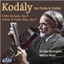 Musica per violoncello e violino - CD Audio di Zoltan Kodaly