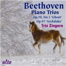 Trii con pianoforte op.70 n.1, op.97 - CD Audio di Ludwig van Beethoven,Trio Zingara