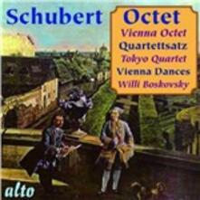 Ottetto - Quartetto per archi - Danze viennesi - CD Audio di Franz Schubert