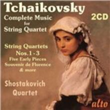 Quartetti per archi completi - CD Audio di Pyotr Ilyich Tchaikovsky,Shostakovich Quartet