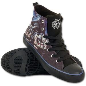 Scarpe Uomo Spiral. Game Over Sneakers. Men's High Top Laceup
