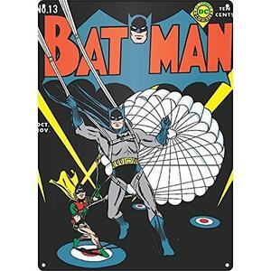 Targa Acciaio Batman. Batman Parachute