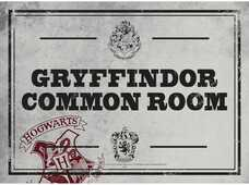 Idee regalo Targa Piccola Harry Potter. Common Room in Metallo Half Moon Bay