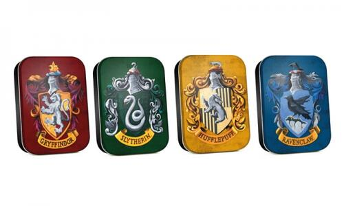 Scatoline in metallo Harry Potter. Set 4 scatoline assortiite Case di Hogwarts