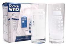Set 2 Bicchieri Dr Who. Tardis & Dalek Cold Change